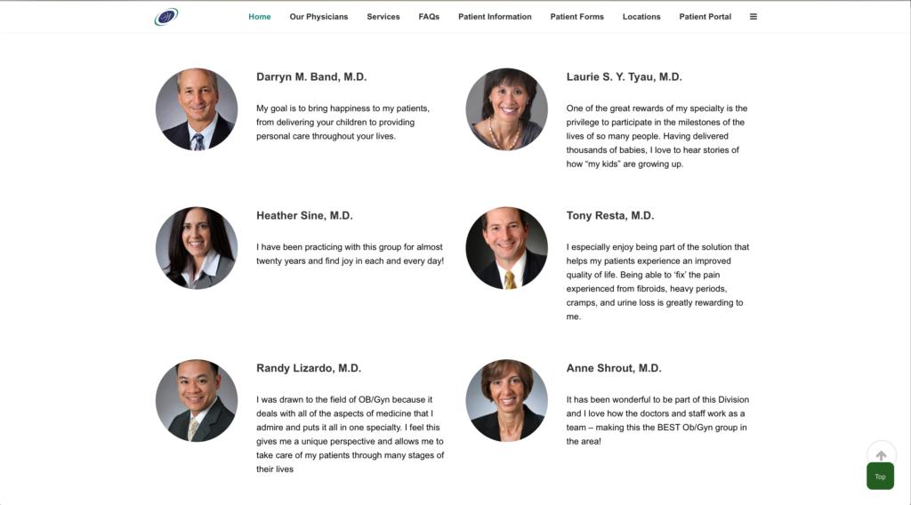 Gynecology Website Design | Orange County CA